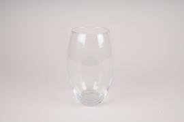 A045W3 Vase en verre obus D15cm H23cm