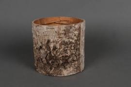 A046DZ Cache-pot en écorce D15cm H15cm