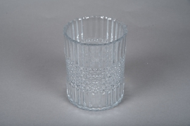 A046IH Glass candle jar D12.5cm H16cm