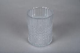 A046IH Glass candle jar D12.5cm H16cm