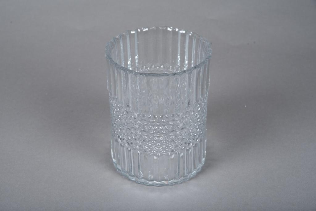 A046IH Photophore en verre D12.5cm H16cm