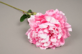 a046nn Artificial pink peony H70cm