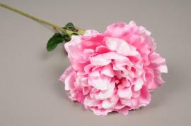 a046nn Pivoine artificielle rose H70cm