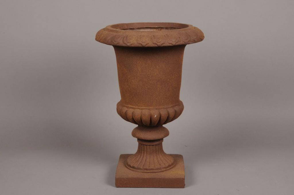 A046XY Vase Médicis en fibre gris D30cm H43cm