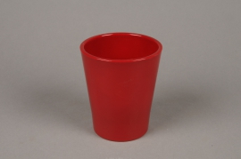 A047DO Red ceramic planter D10cm H12cm