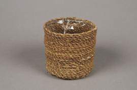 A047DQ Cache-pot en fibres naturelles D12cm H12cm