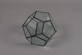 A047HX Glass greenhouse D23cm H18cm