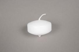 A048E2 Boîte de 50 bougies flottantes blanches