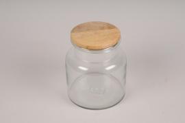 A048LE Bocal en verre avec bouchon D14cm H16cm