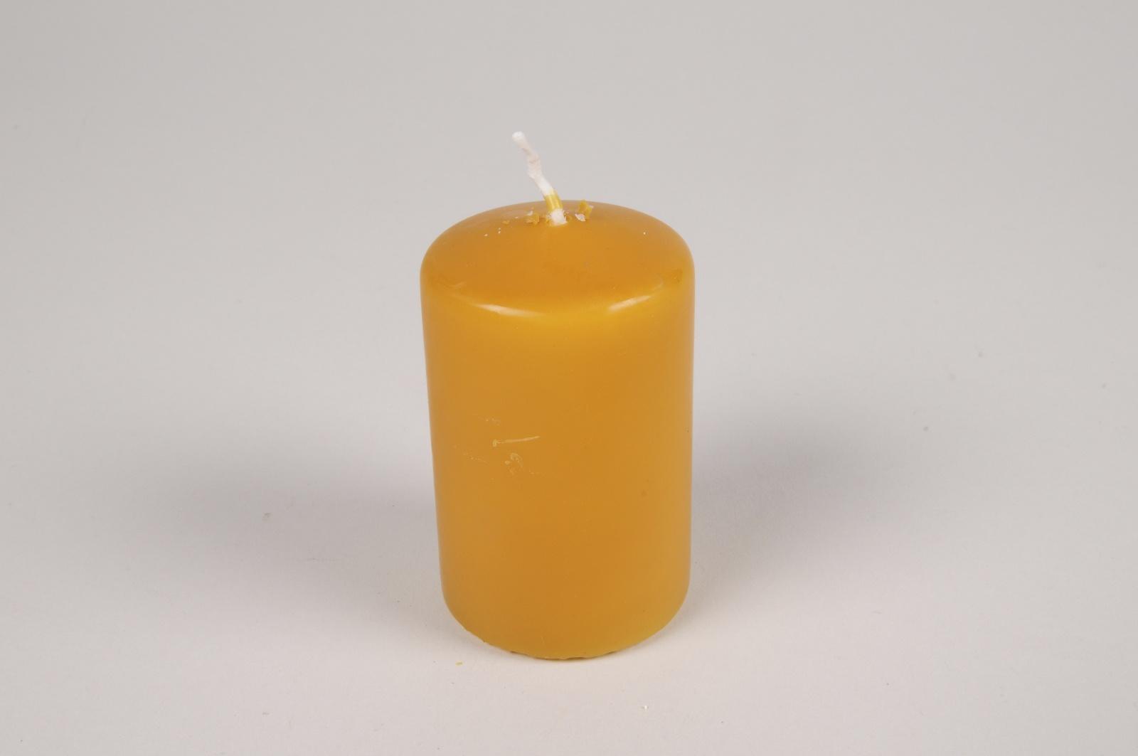 A048RP Boîte de 24 bougies cylindre miel D5cm H8cm