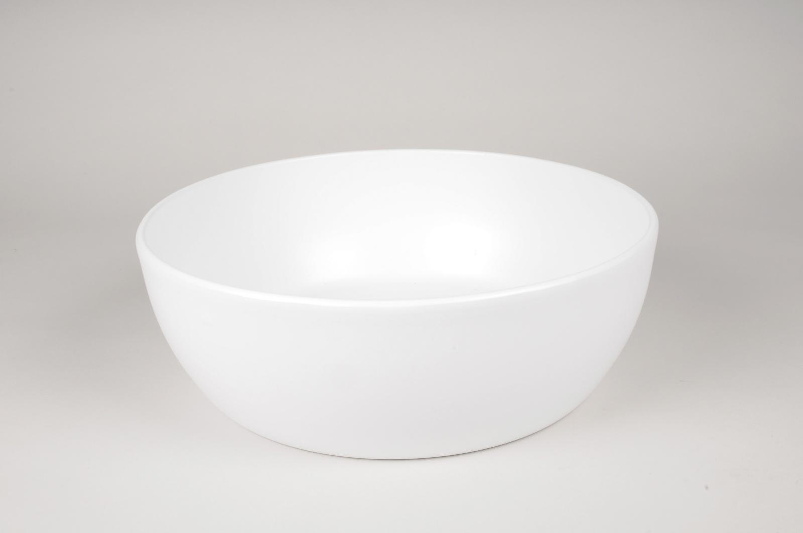 A049A8 Coupe en céramique blanc mat D36cm H12cm