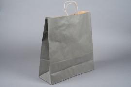 A049AS Paquet de 25 sacs kraft gris 36cm x 12cm H41cm