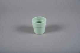 A049DO Cache-pot en céramique vert D7cm H6.5cm