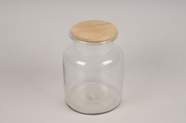 A049LE Bocal en verre avec bouchon D17cm H22cm