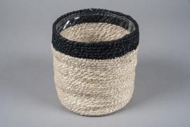 A049M5 Cache-pot en jute naturel D20cm H20cm