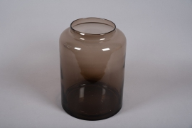 A049W3 Vase en verre marron D29.5cm H40cm