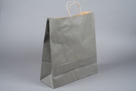 A050AS Paquet de 25 sacs kraft gris 36cm x 12cm H41cm