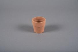 A050DO Cache-pot en céramique terracotta D7cm H6.5cm