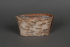 A050DZ Wood bark window-box 16x7cm H7cm