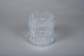 A050IH Glass candle jar D14.5cm H15cm