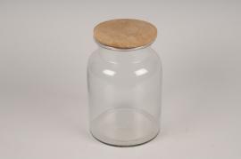 A050LE Bocal en verre avec bouchon D19cm H28cm
