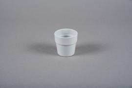A051DO Cache-pot en céramique gris D7cm H6.5cm
