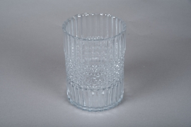 A051IH Glass candle jar D15cm H20cm