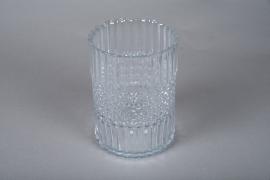 A051IH Photophore en verre D15cm H20cm