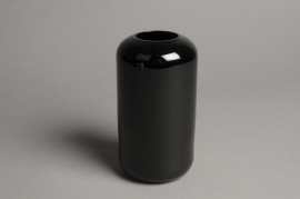 A051P5 Black glass vase D8cm H15cm