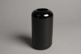 A051P5 Vase en verre noir D8cm H15cm