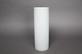 A051PS Vase en verre cylindre blanc D10 H30cm