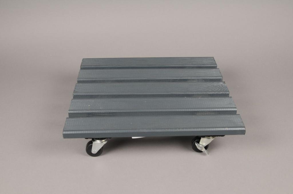 A051SF Roul'bac en bois noir 40x40cm