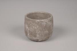 A051U0 Cache-pot en béton gris D10cm H9cm