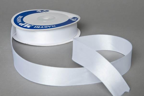 A051UN Ruban satin blanc 25mm x 50m
