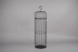 A052AY Black metal cage D25cm H90cm