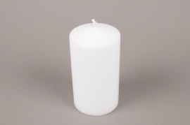 A052E2 Box of 6 candles white cylinder D8cm H15cm