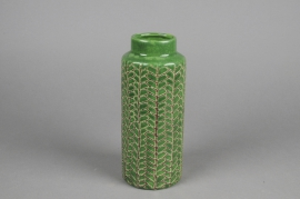 A052IH Vase en céramique vert D9cm H21cm