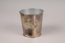 A052JY Cache-pot en métal oxydé D9.5cm H10cm