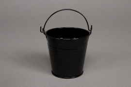 A052KM Bucket zinc black D11cm H10cm