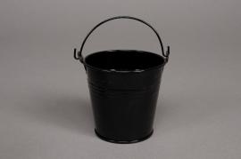 A052KM Seau en zinc noir D11cm H10cm