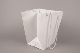 A052QX Paquet de 10 sacs trapèze gris 25x25cm H29cm