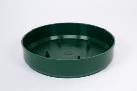 A052T7 Paquet de 12 coupes en plastique vertes D18cm H4cm