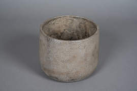 A052U0 Pearly grey concrete planter D20cm H17cm