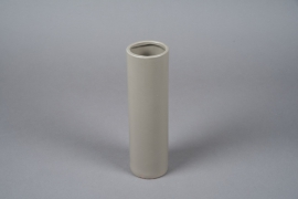 A052WV Light grey ceramic vase D8cm H28cm