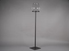A052ZV Black metal stemmed light holder H134cm