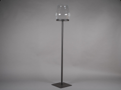 A052ZV Black metal stemmed light holder H134cm