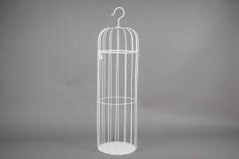 A053AY White metal cage D30cm H109cm