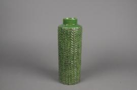 A053IH Vase en céramique vert D10.5cm H30cm