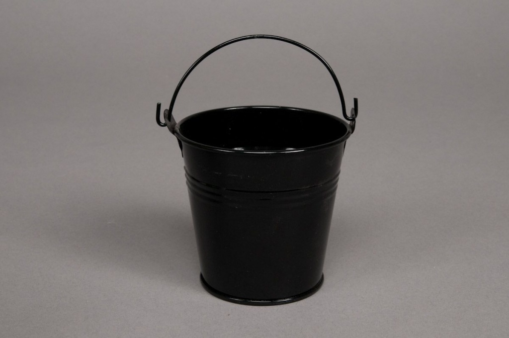 A053KM Bucket zinc black D13 H12cm