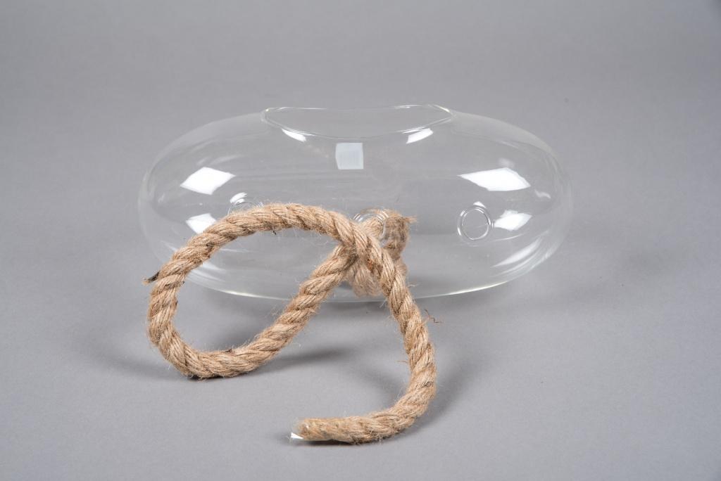 A053R4 Boule en verre allongée à suspendre 28x13cm H13cm